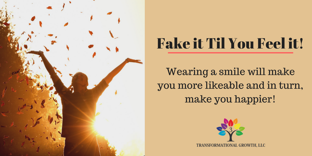 Wearing a smile makes you more likeable and in turn, will improve your happiness!